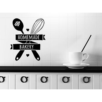 Wall Vinyl Decal Quote Words Kitchen Tools Home Made Bakery Sticker Decor Unique Gift (n1134)