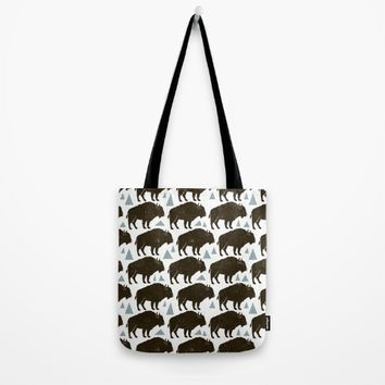 Follow The Herd Tote Bag by Heather Dutton