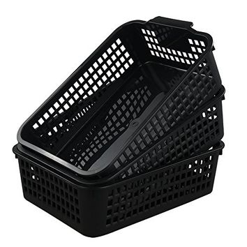 Begale Plastic Storage Basket/ Bins Organizer, Set of 3
