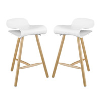 Clip Modern Bar Stool Set of 2