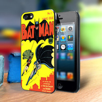 Batman Vintage - Design on Hard Cover For iPhone 4/4s Case or iPhone 5 Case - Black Or White (Option)