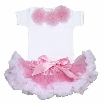 Newborn Baby Tutu  Sets,Baby Gifts,Newborn Baby Girl Tutu -Posh Baby Clothes- Baby Tutu - Baby Gifts-Cotton Candy Pink & White Tutu Set