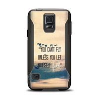The Pastel Sunset You Cant Fly Unless You Let Yourself Fall Samsung Galaxy S5 Otterbox Commuter Case Skin Set