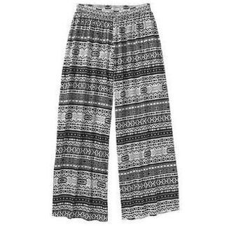 There is a Star in Every... Women's Aztec Printed Palazzo Pants, Medium, Aztec