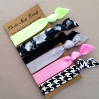 The Sasha Elastic Hair Tie Ponytail Holder Collection by Elastic Hair Bandz