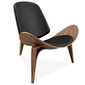 Hans Wegner Style Three Legged Shell Chair - Free Shipping