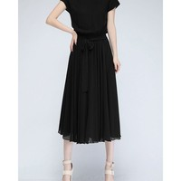 Sweep Me Off My Feet- Chiffon Dress