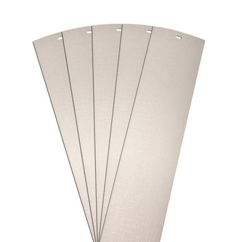 DALIX Lino Vertical Window Blinds Slats Replacement Parts Ivory 5 Pack