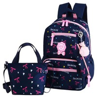 School Backpack trendy 2018 New 3PCS School Bags For Girls Printing s Kids Backpack Back to School Supplies for Middle School Bookbag AT_54_4