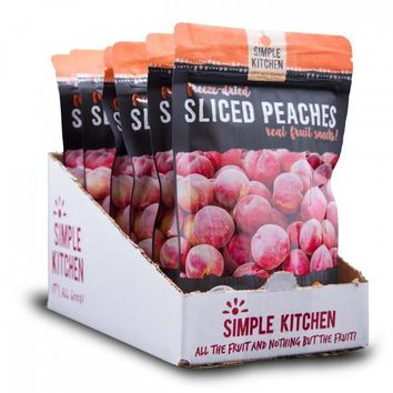 Simple Kitchen Freeze-Dried Peaches 6-Pack