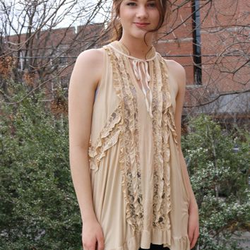 Swing Top Tank by POL Clothing - Honey Gold
