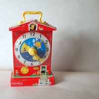 Adorable RETRO CLOCK // Children Decor // by ACESFINDSVINTAGE