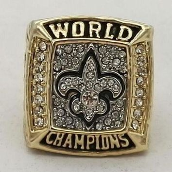 Sports Ring * 2009 New Orleans 'saints' World * Champions/... Fast Delivery!