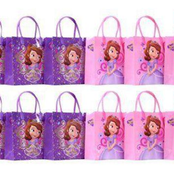 "Disney Princess Sofia the First Party Favor Gift Bag - 8"" Mid Size (12 Packs)"