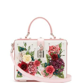 Embellished floral-print leather box bag | Dolce & Gabbana | MATCHESFASHION.COM US