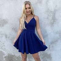 All About Love Navy Skater Dress