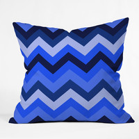 Romi Vega Chevron Blue Throw Pillow