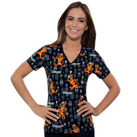 Sale Cherokee Scooby Masquerade V-Neck Top - Scrub Tops - Marcus Uniforms