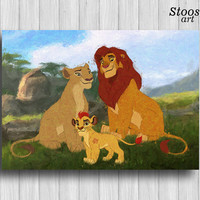 lion guard disney print kion simba and nala art lion king poster