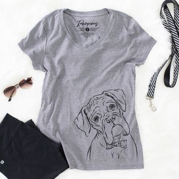Cooper the Boxer Dog - Women's Relaxed Fit V-neck Shirt