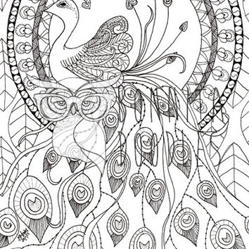 Peacock Colouring sheet