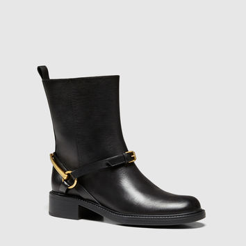 Gucci - tess leather horsebit ankle boot 353792A3N001000