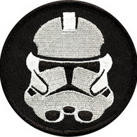 Star Wars Iron-On Patch Round Stormtrooper