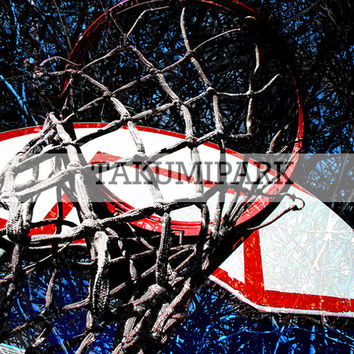 Modern Basketball Urban Street Art, Sports Wall Art Decor, Modern Mancave Art Prints, Basketball Pictures, Unique Bedroom Sports Art Decor