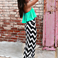 Like A Million Bucks Maxi Skirt - Black