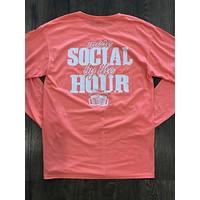More Social By the Hour Coral Long Sleeve