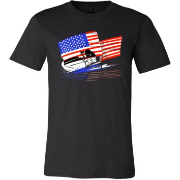 USA Jet Ski American National Flag U.S.A Water Sports Tee Shirt