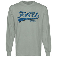 FAU Owls All-American Primary Long Sleeve T-Shirt - Ash