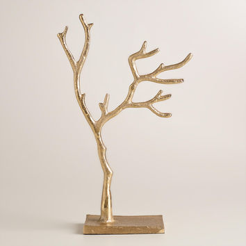 Small Gold Tree Jewelry Stand - World Market