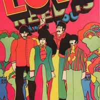 The Beatles Yellow Submarine Love Poster 24x36