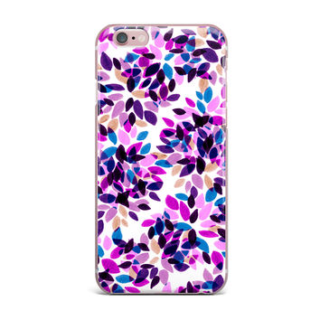 "Ebi Emporium ""Dahlia Dots 3"" Pink Purple iPhone Case"