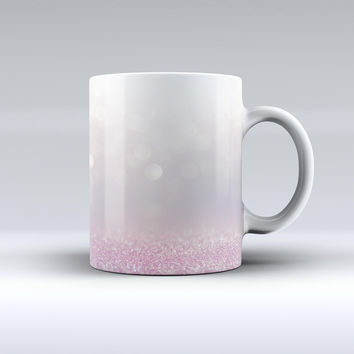The Unfocused Light Pink Glowing Orbs of Light ink-Fuzed Ceramic Coffee Mug