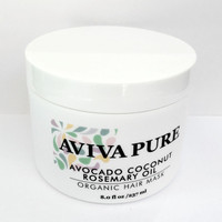Organic Avocado Coconut Oil Hair Mask for Dry Damaged Hair and Hair Growth