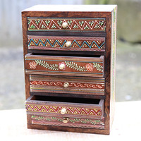 Small Hand Painted Storage Chest