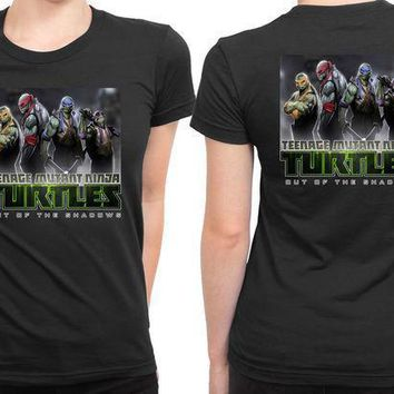 Teenage Mutant Ninja Turtles Out Of The Shadows 2 Sided Womens T Shirt