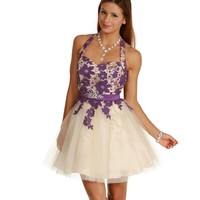 Ella-plum Homecoming Dress