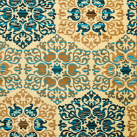 5007 Turquoise Medallion Transitional Area Rugs