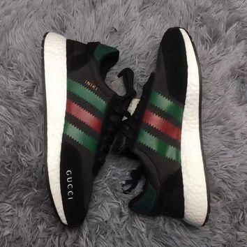 GUCCI Adidas Iniki Runner Boost Fashion Trending Running Sports Shoes Sneakers
