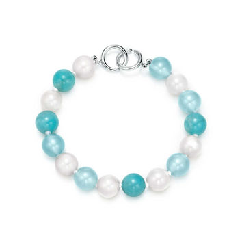 Tiffany & Co. - Paloma Picasso® bead bracelet with colored gemstones and sterling silver clasp.