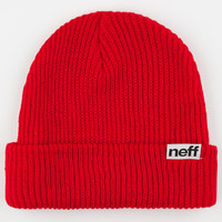 Neff Fold Mens Beanie Red One Size For Men 16452330001