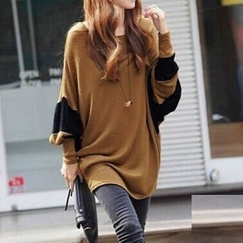 Classic delight balloon sleeve oversize blouse