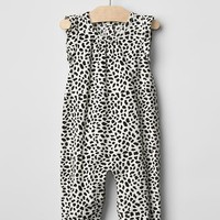 Gap Cord Animal Print One Piece - ivory frost