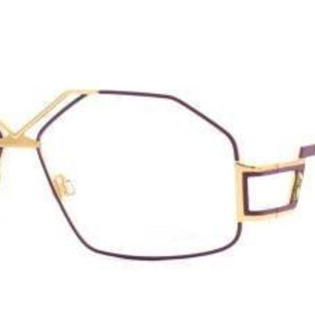 QIYIF Cazal Purple and Gold Women Vintage Eyeglasses Frame