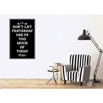 Vinyl Decal Vintage Quote Lettering Poster Home Decor Wall Sticker (n1045)