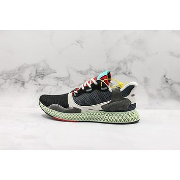 Adidas Consortium ZX 4000 Futurecraft 4D Black Onix Running Shoes