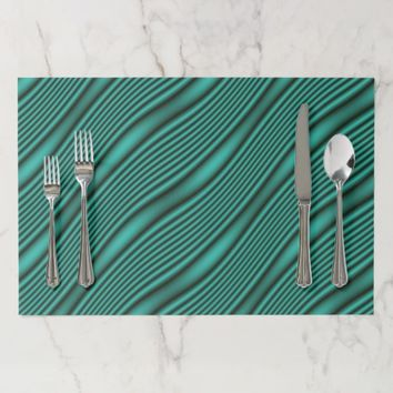 Teal Waves Placemat